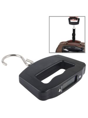 50kgx10g LCD Electronic Travel Luggage Hook Weight Scale(Black)