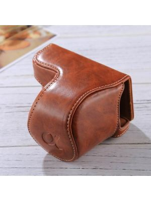 Full Body Camera PU Leather Case Bag with Strap for Sony A5100 / A5000 / NEX-3N (16-50mm / 40.5mm Lens)(Brown)