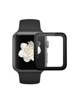 ENKAY Hat-Prince for Apple Watch Series 1 / 2 42mm 0.2mm 9H Surface Hardness 3D Explosion-proof Aluminum Alloy Edge Full Screen Tempered Glass Screen Film