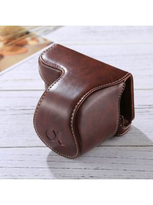 Full Body Camera PU Leather Case Bag with Strap for Sony A5100 / A5000 / NEX-3N (16-50mm / 40.5mm Lens)(Coffee)