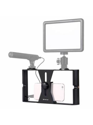 PULUZ Smartphone Video Rig Filmmaking Recording Handle Stabilizer Bracket for iPhone, Galaxy, Huawei, Xiaomi, HTC, LG, Google, and Other Smartphones