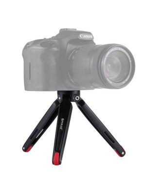 PULUZ Pocket Mini Metal Desktop Tripod Mount for DSLR & Digital Camera, Adjustable Height: 4.5-15cm, Max Load: 20kg(Red)