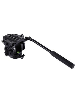 PULUZ Heavy Duty Video Camera Tripod Action Fluid Drag Head with Sliding Plate for DSLR & SLR Cameras, Small Size(Black)