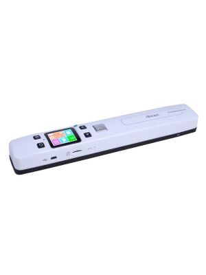 iScan02 Double Roller Mobile Document Portable Handheld Scanner with LED Display,  Support 1050DPI  / 600DPI  / 300DPI  / PDF / JPG / TF(White)