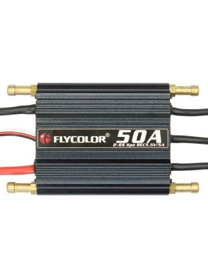 Flycolor Flymoster Series 50A 2-6S Waterproof Electronic Speed Controller for RC Boat