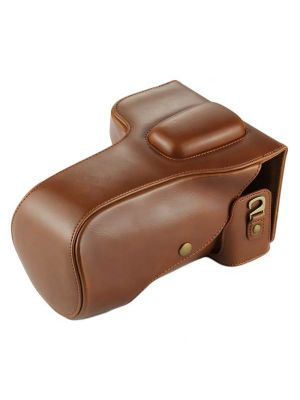 Full Body Camera PU Leather Case Bag for Nikon D7200 / D7100 / D7000 (18-200 / 18-140mm Lens) (Coffee)