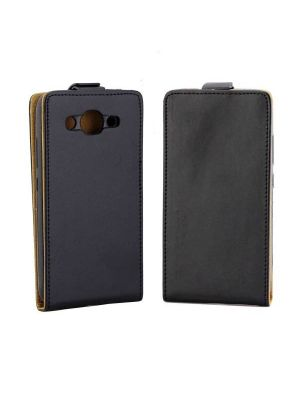 Huawei Y3 (2017) Vertical Flip Business Style Leather Case Cover with Card Slot (Black)
