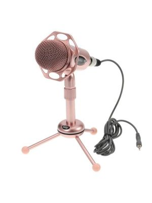 Yanmai Y20  Sound Recording Condenser Microphone with Tripod Holder, Cable Length: 1.8m, Compatible with PC and Mac for Live Broadcast Show, KTV, etc.(Rose Gold)
