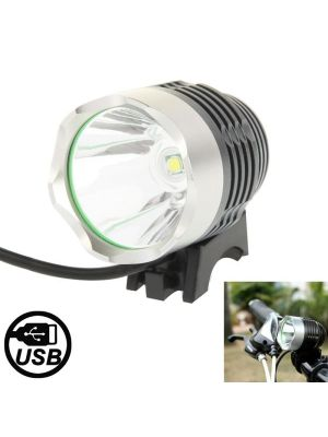 3 Modes USB CREE XML T6 LED Headlamp / Bicycle Light, Luminous Flux: 900lm, Cable Length: 1.5m