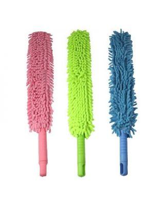 Single Sided Flexible Chenille Changeable Dust Duster (Random Color Delivery)
