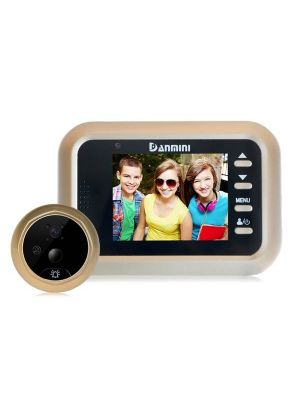 Danmini Q8 2.4 inch Color Screen 1.0MP Security Camera No Disturb Peephole Viewer, Support TF Card (32GB Max) / Night Vision / PIR Motion Detection(Gold)