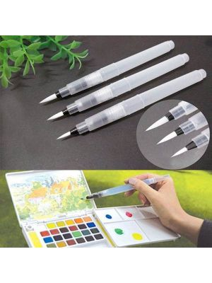 3 PCS Pilot Ink Pen for Water Brush Watercolor Calligraphy Painting Tool Set Office Stationery,(Size:S,M,L)