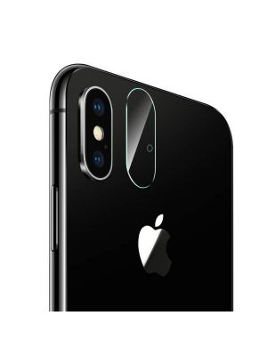 For iPhone X Rear Camera Lens Protector Tempered Glass Protective Film with Holes