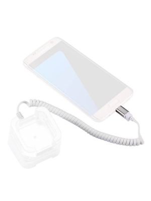RJ11 to Micro USB 2.0 Anti-Theft Security Retractable Coiled Cable for Android Phones Display Stand