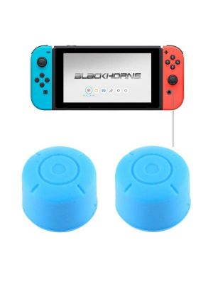 2 PCS for Nintendo Switch Game Button Silicone Caps Protective Cover (Blue)