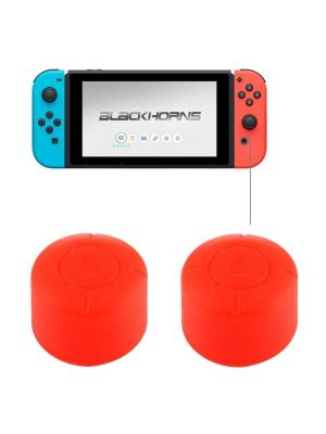 2 PCS for Nintendo Switch Game Button Silicone Caps Protective Cover (Red)