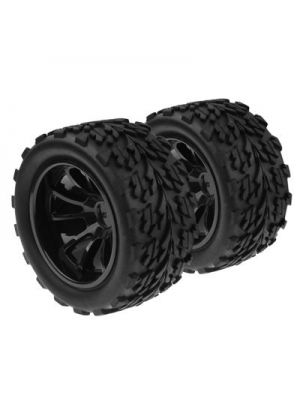 1:10 Rubber Sponge Racing RC Cars Monster Bigfoot Tyre Wheel Set for RC Car, 4 Pcs in One Packaging, the Price is for 4 Pcs