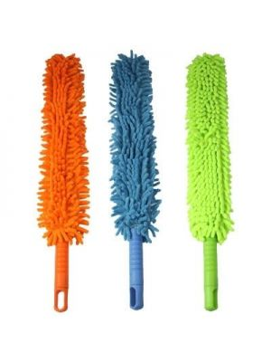 Double Sided Flexible Chenille Changeable Dust Duster (Random Color Delivery)