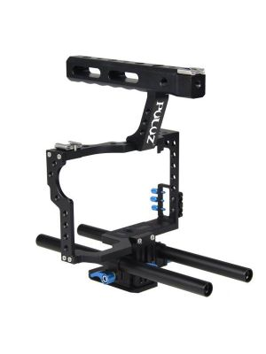 PULUZ Camera Cage Handle Stabilizer for Sony A7 & A7S & A7R & A7R II & A7S II, Panasonic Lumix DMC-GH4(Blue)