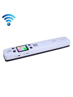 iScan02 WiFi Double Roller Mobile Document Portable HandHeld Scanner with LED Display,  Support 1050DPI  / 600DPI  / 300DPI  / PDF / JPG / TF (White)