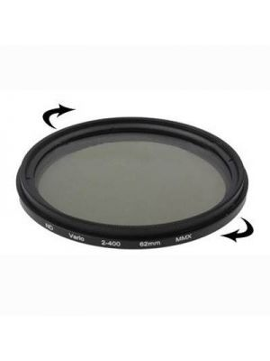 62mm ND Fader Neutral Density Adjustable Variable Filter ND2 to ND400 Filter(Black)