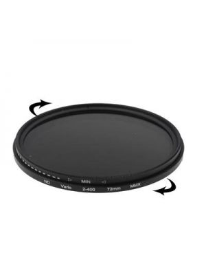 72mm ND Fader Neutral Density Adjustable Variable Filter ND 2 to ND 400 Filter